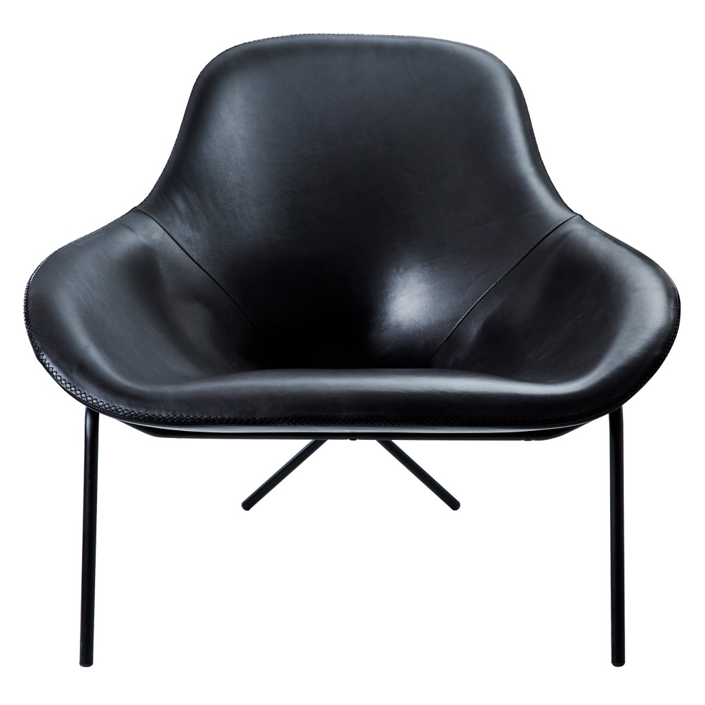 Magnus Long for The Conran Shop Cross Leg Chair Blk Leather 1