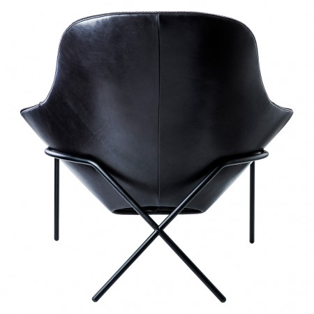 Magnus Long for The Conran Shop Cross Leg Chair Blk Leather 5