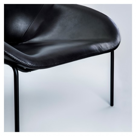 Magnus Long for The Conran Shop Cross Leg Chair Blk Leather 8